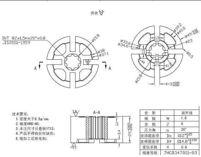 求购汽车发电机真空泵的泵芯(长期大量)